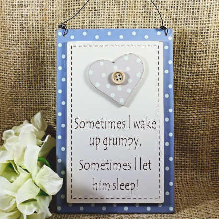 50% OFF humorous little 'wake up grumpy' sign